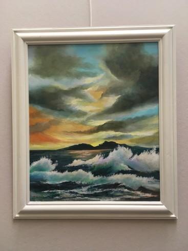Stormy Sea Sunset