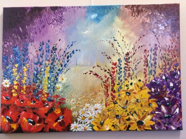Riot of summer flowerrs (Abstract realism)