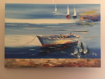 Boats on a quiet sea