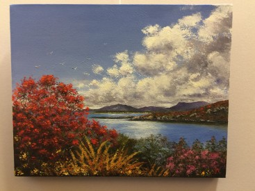 The loch beyond the flowers (Arisaig)
