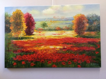 Fields of Red and Gold (Abstract Realism)