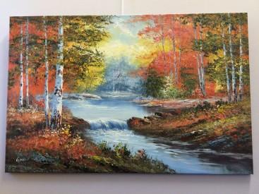 Mini Falls on an Autumn river