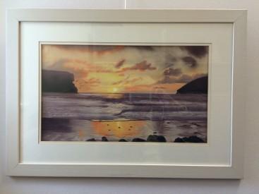 Golden Sunset across the beach (Mawgan Porth)