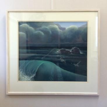 Dusk comes at sea (Abstract Realism)