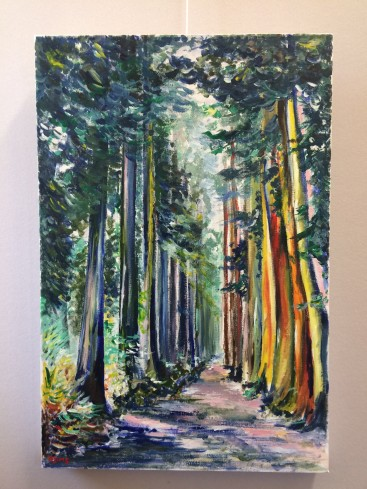 Avenue of Tall Trees (Abstract Realism)