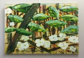 White flowers in the woods (Abstract Realism)