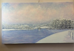 River in a time of snow