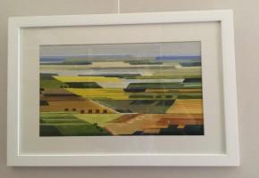 Landscape cubist style