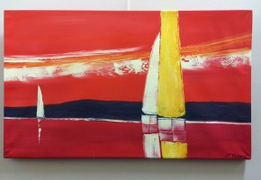 Sailing in the Sunset (Abstract Realism)