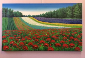 Fields of Lavender and Poppies
