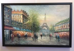 Paris street Eiffel Tower