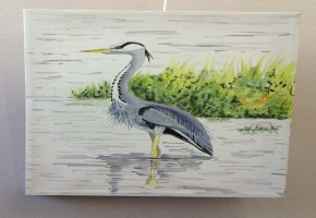Heron in Lake